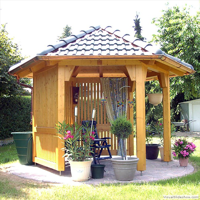 gartenpavillon aus holz zimmerei b schel. Black Bedroom Furniture Sets. Home Design Ideas